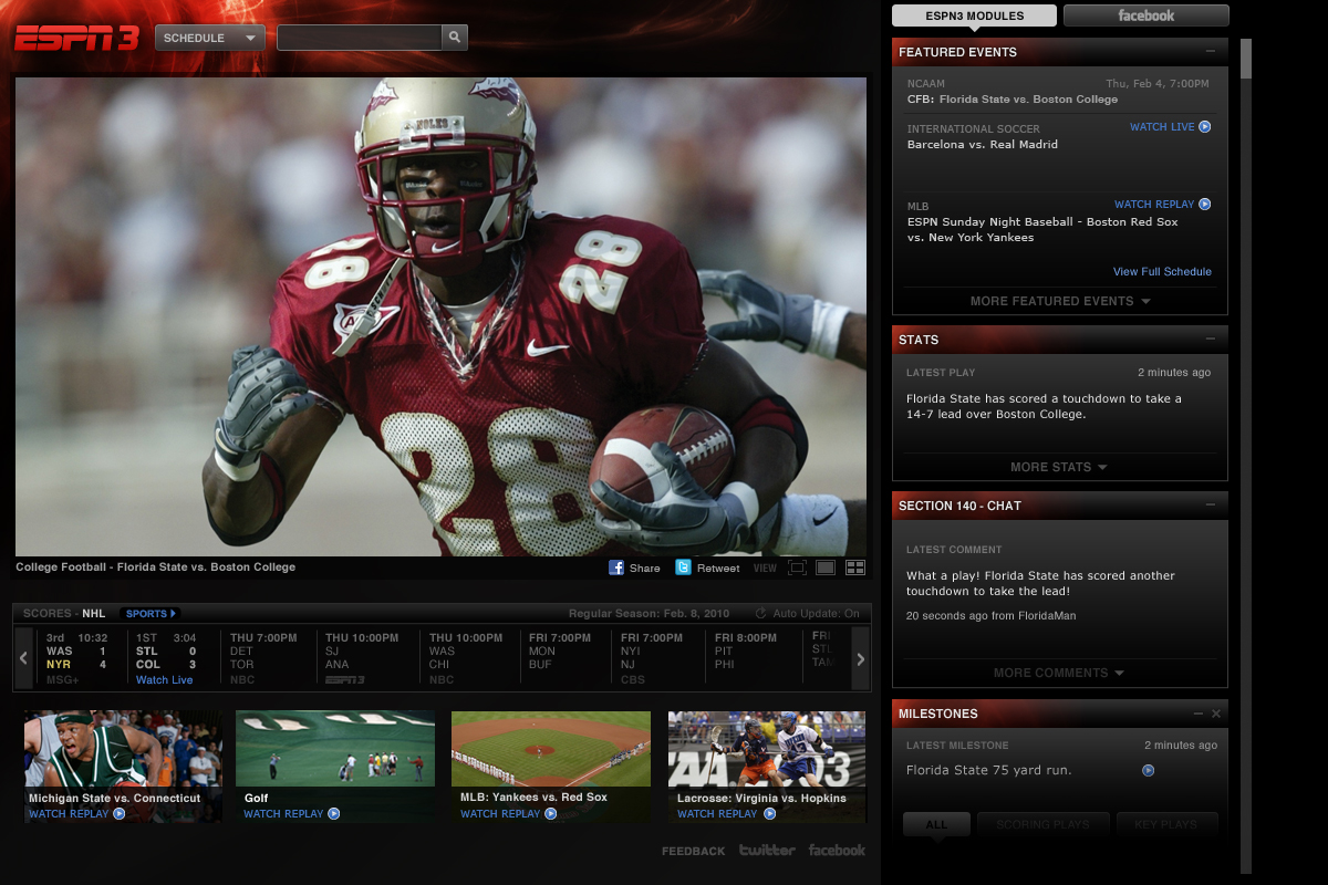 ESPN3.com. Your Favorite Sports. Live. Online. | CentraCom News