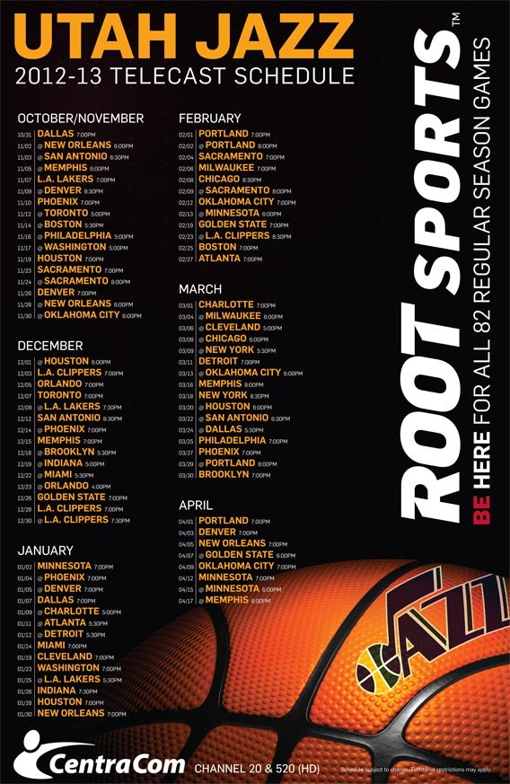 utah jazz tv schedule